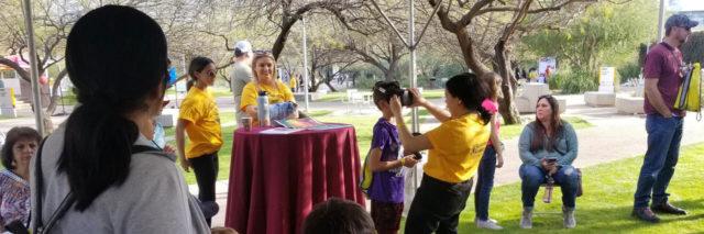 An outdoor event at ASU Polytechnic open door