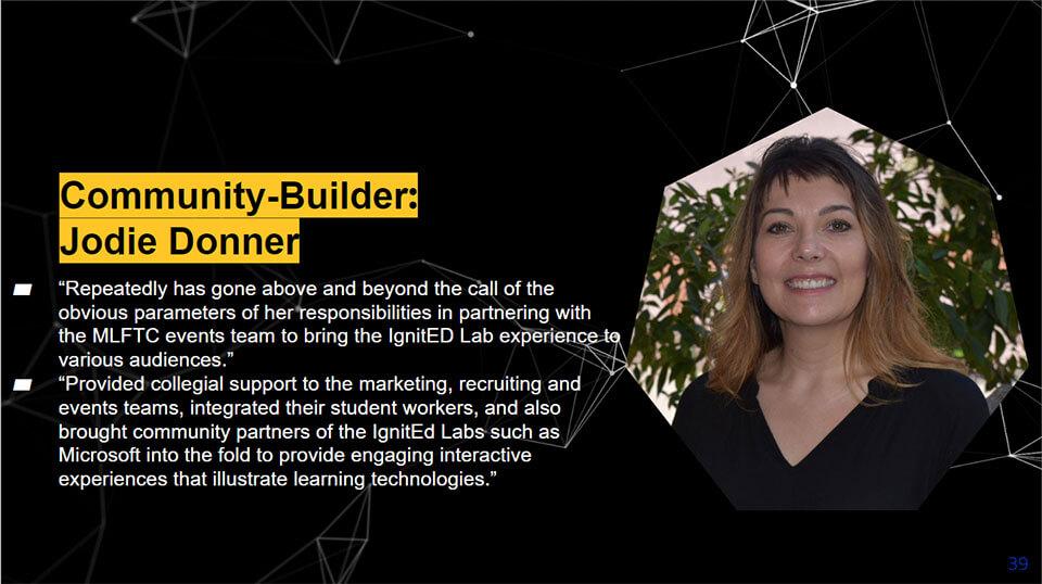Community Builder award recipient Jodie Donner