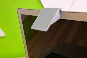 A 3D printed document cam on a Macbook