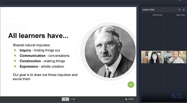 Screen shot of virtual conference presentation